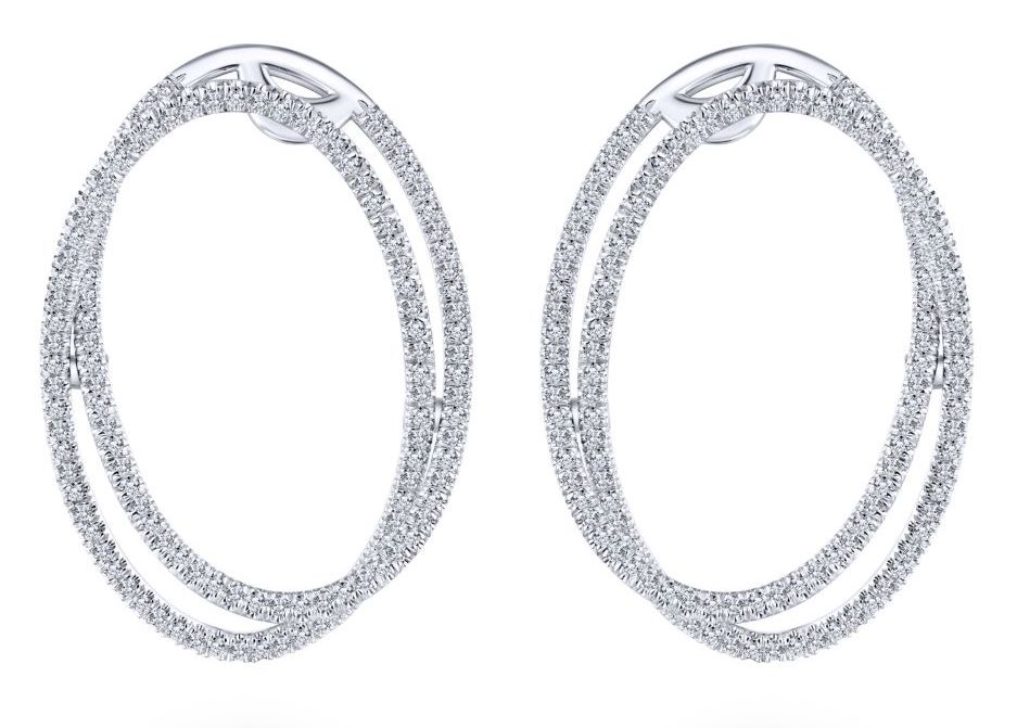 Gabriel diamond circle earrings | JCK On Your Market