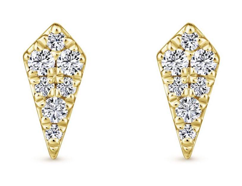 Gabriel and Co. diamond stud earrings