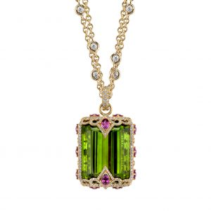 Erica Courtney Amazon peridot pendant | JCK On Your Market