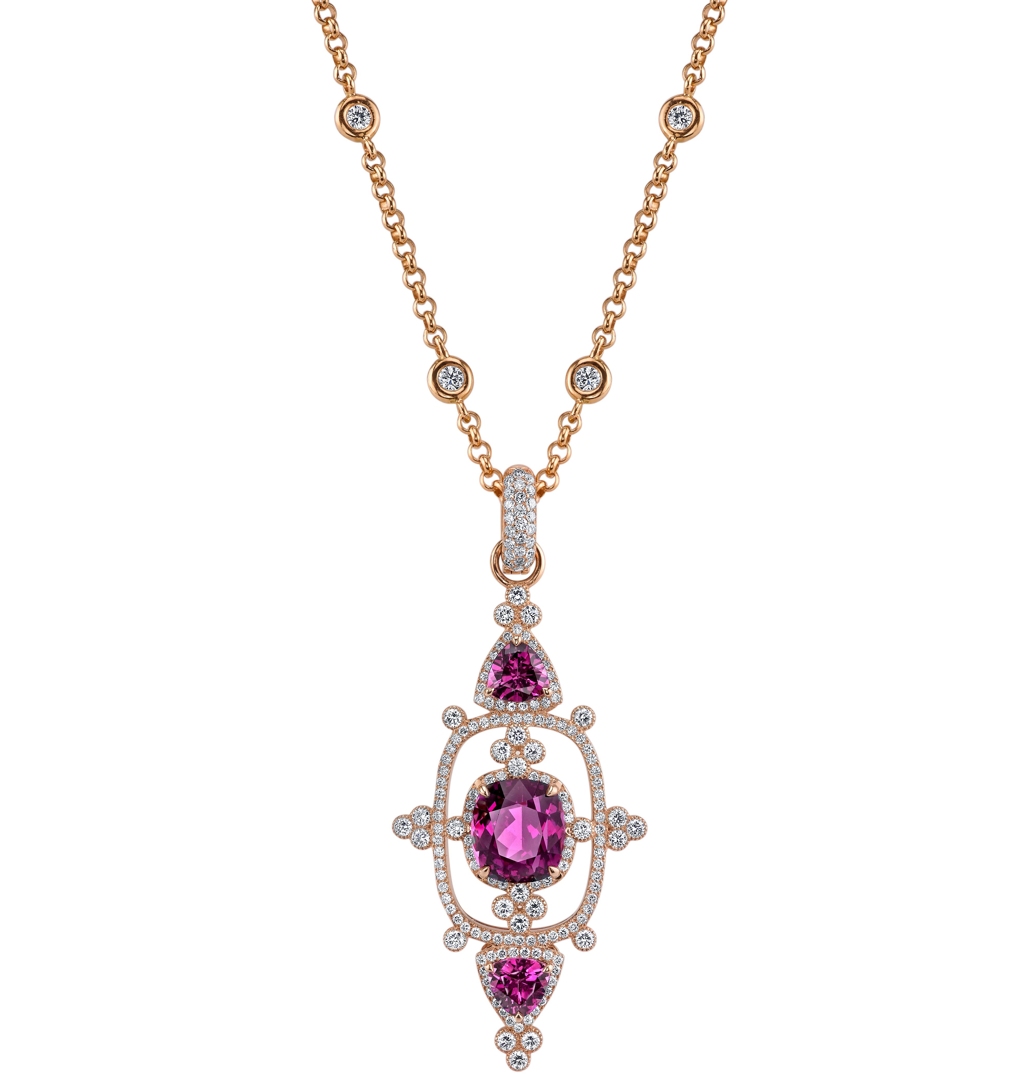 Erica Courtney Interstellar pendant in Purple Garnet | JCK On Your Market