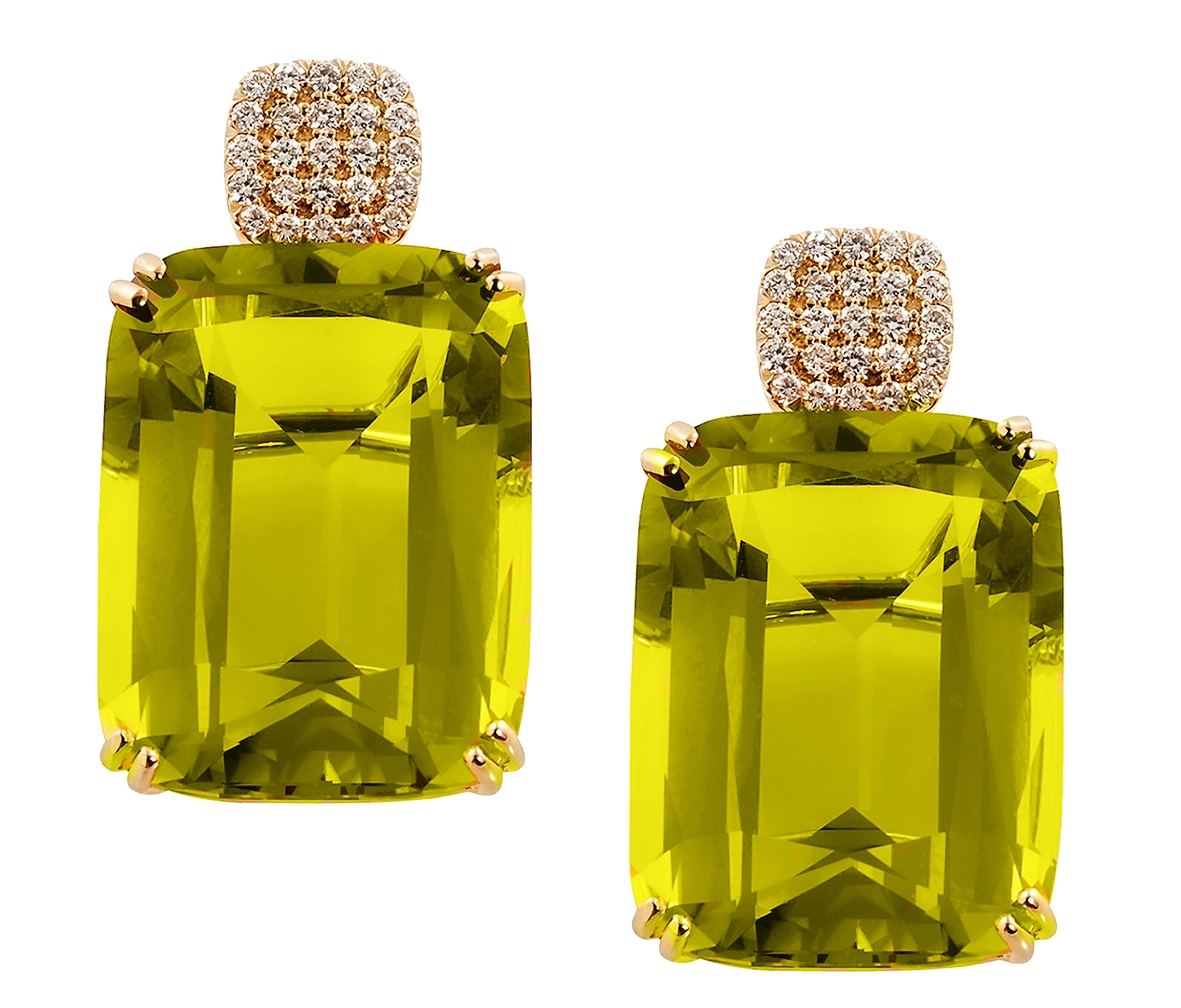 Goshwara lemon quartz Gossip earrings | JCK On Your Market