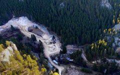 Montana Yogo sapphire mine aerial view