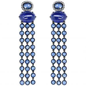 Drop blue earrings