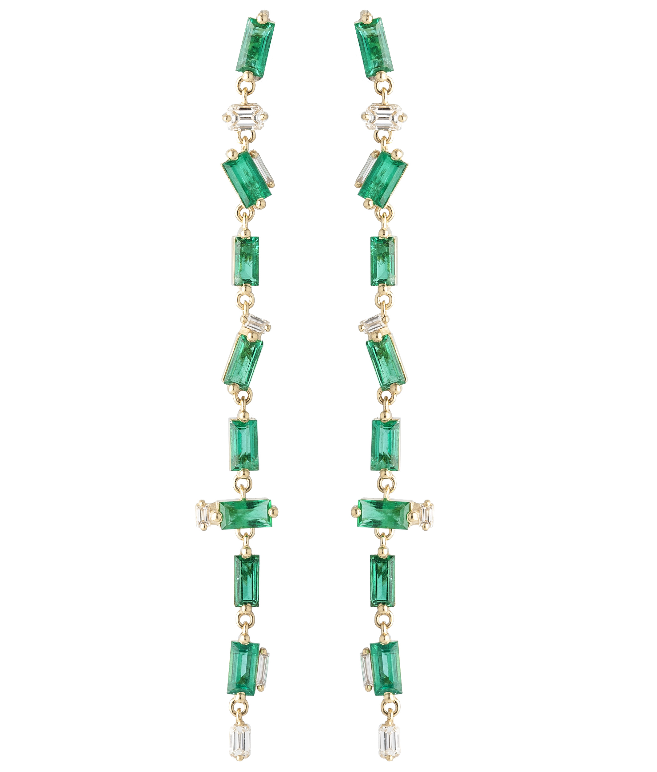 Suzanne Kalan emerald line earrings | JCK On Your Market