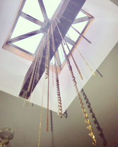 Chandelier made of chains