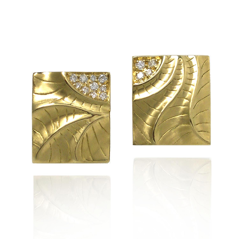 Rectangular Puzzle Earrings