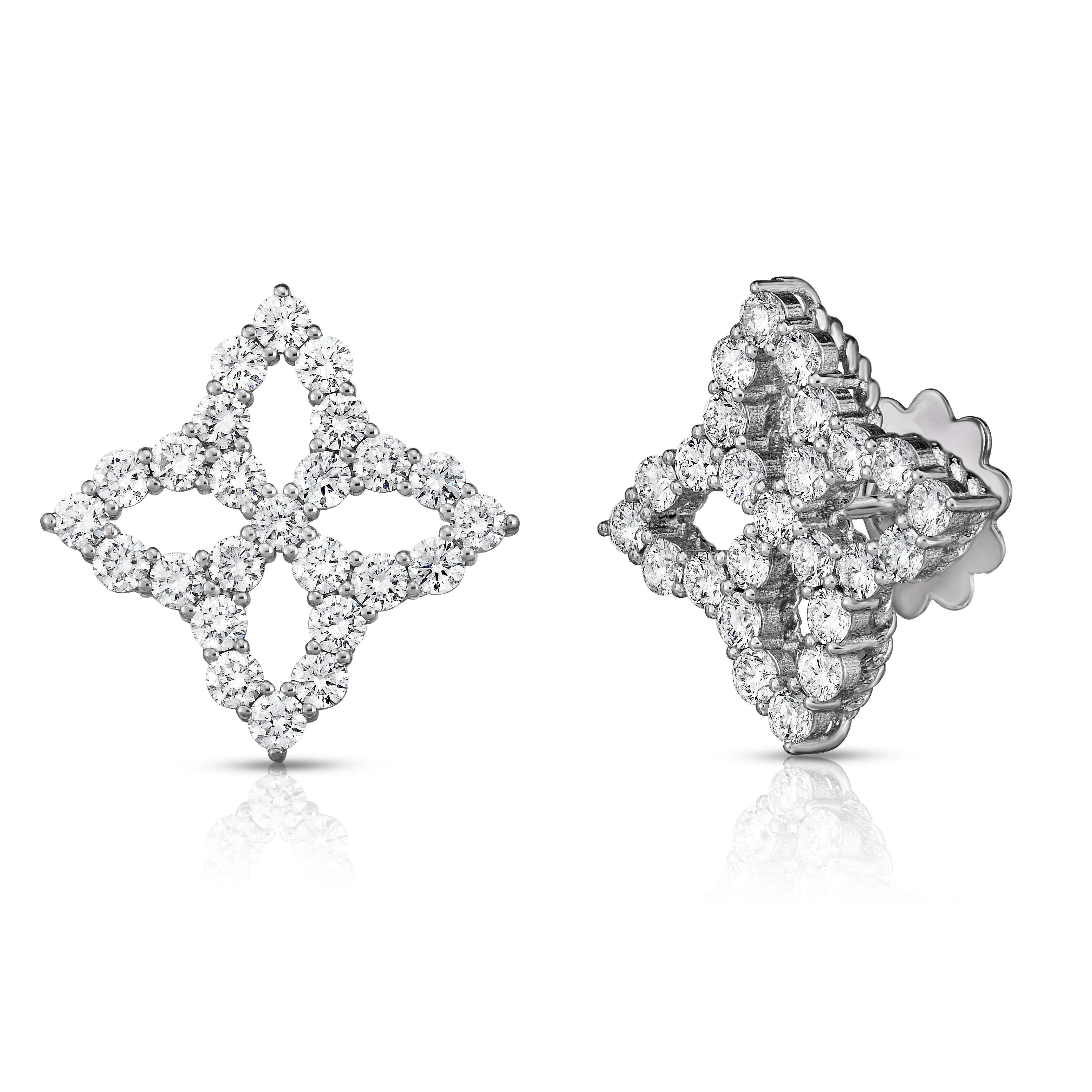 Princess Flower diamond studs