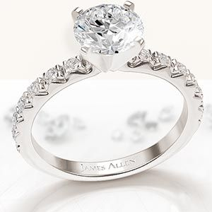 James Allen build your own ring promotion featuring a diamond ring