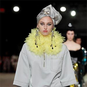 Marc Jacobs runway model at NYFW