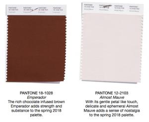 Pantone colors emperador and almost mauve