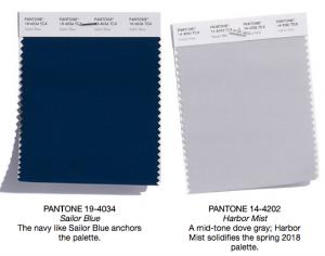 Pantone classics sailor blue and harbor mist
