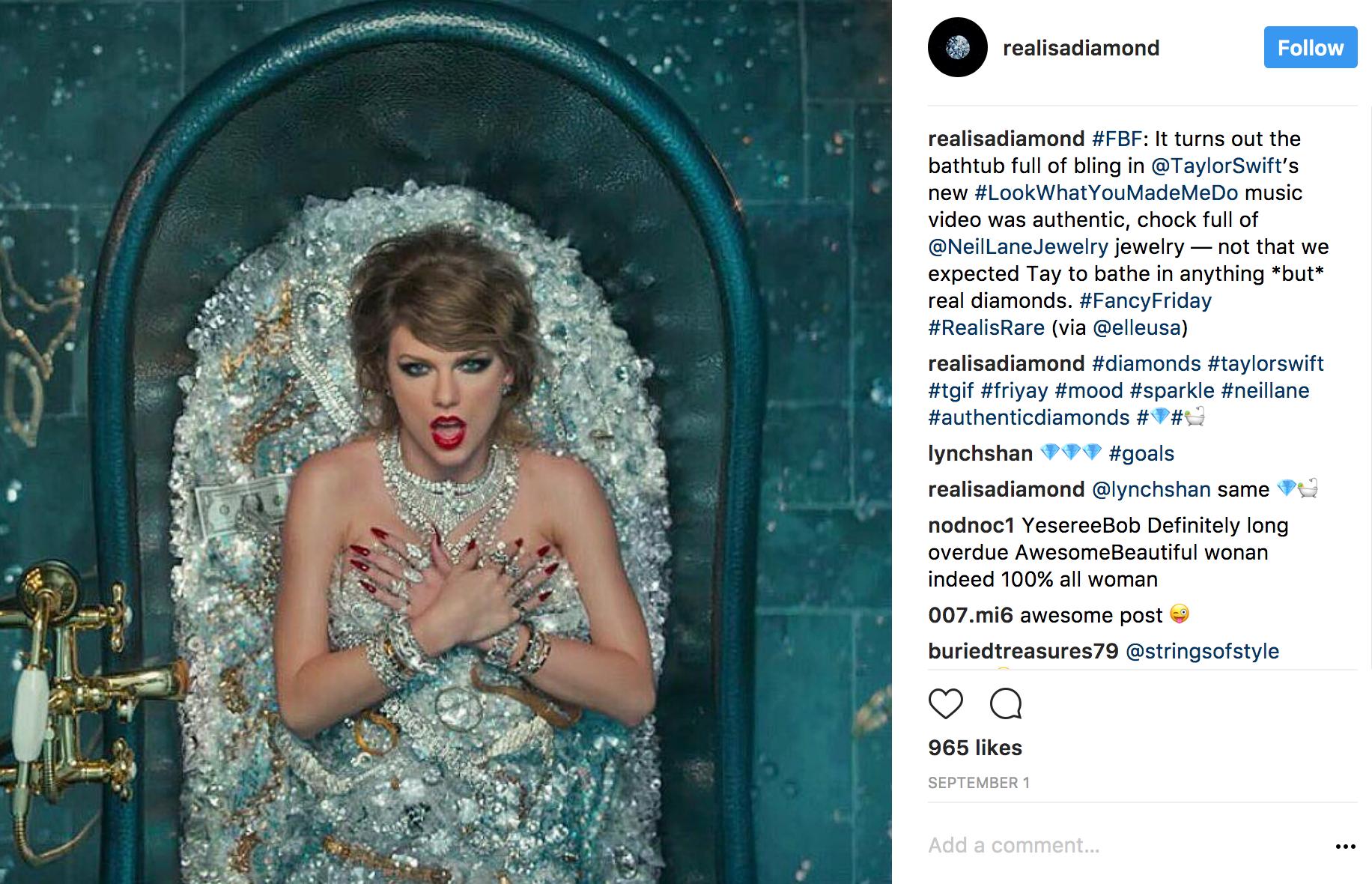 Realisadiamond Instagram Taylor Swift