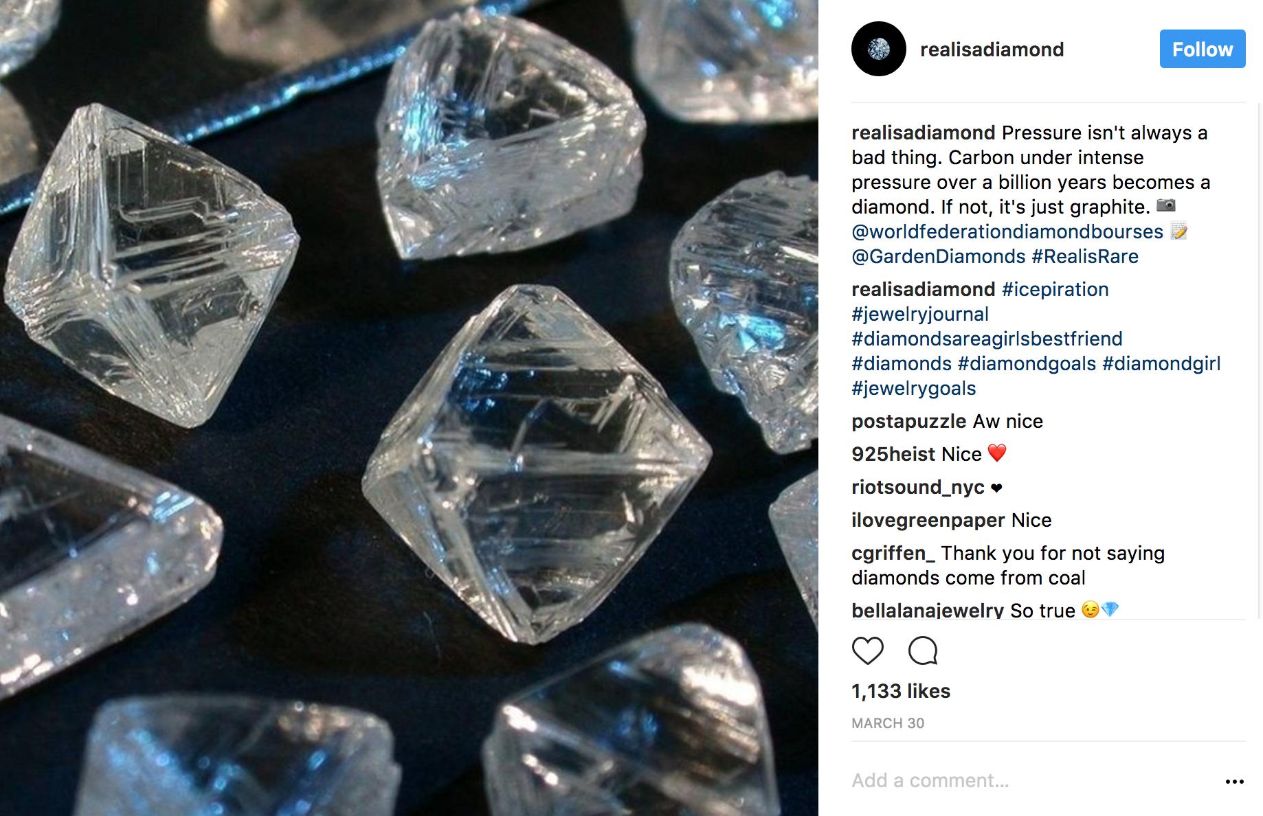 Realisadiamond Instagram carbon to diamond