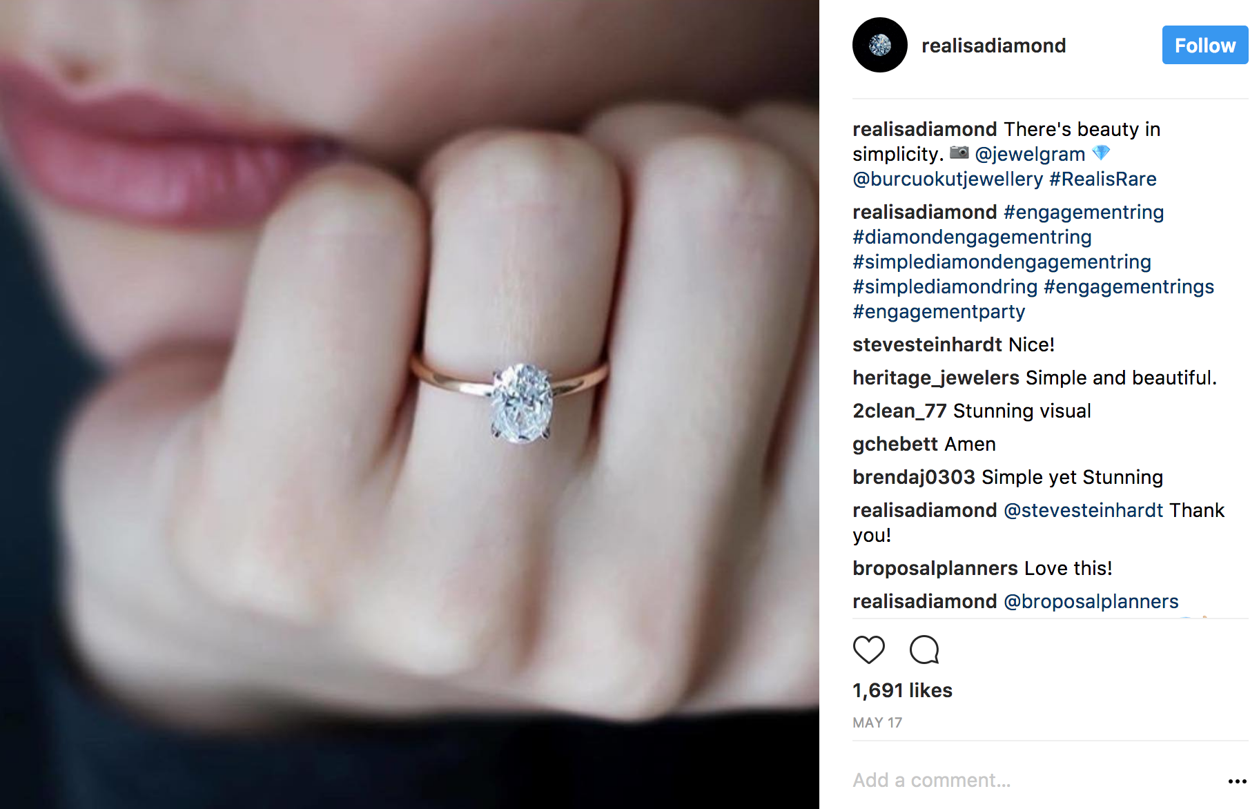 Realisadiamond Instagram simplicity