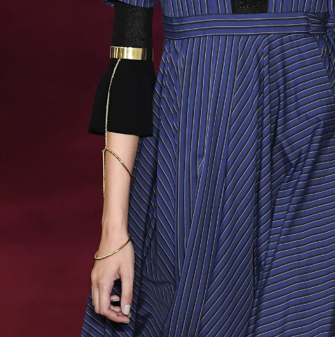 Detail of Lady Grey arm cuff for Jill Stuart