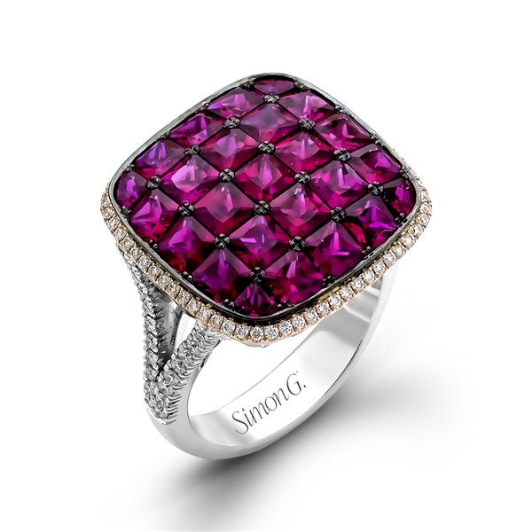 Simon G. princess-cut ruby cocktail ring