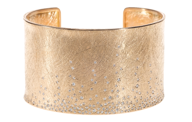 Todd Reed scattered diamond rose gold cuff