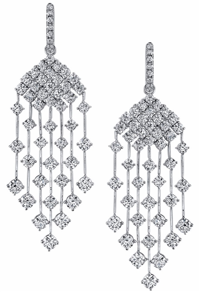 Joshua J diamond cascade earrings