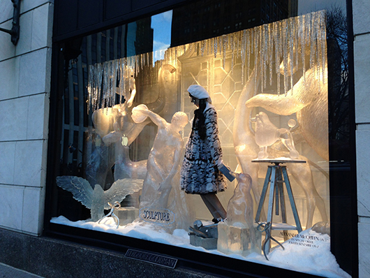 Holiday window at Bergdorf Goodman at 754 Fifth Ave. in Manhattan