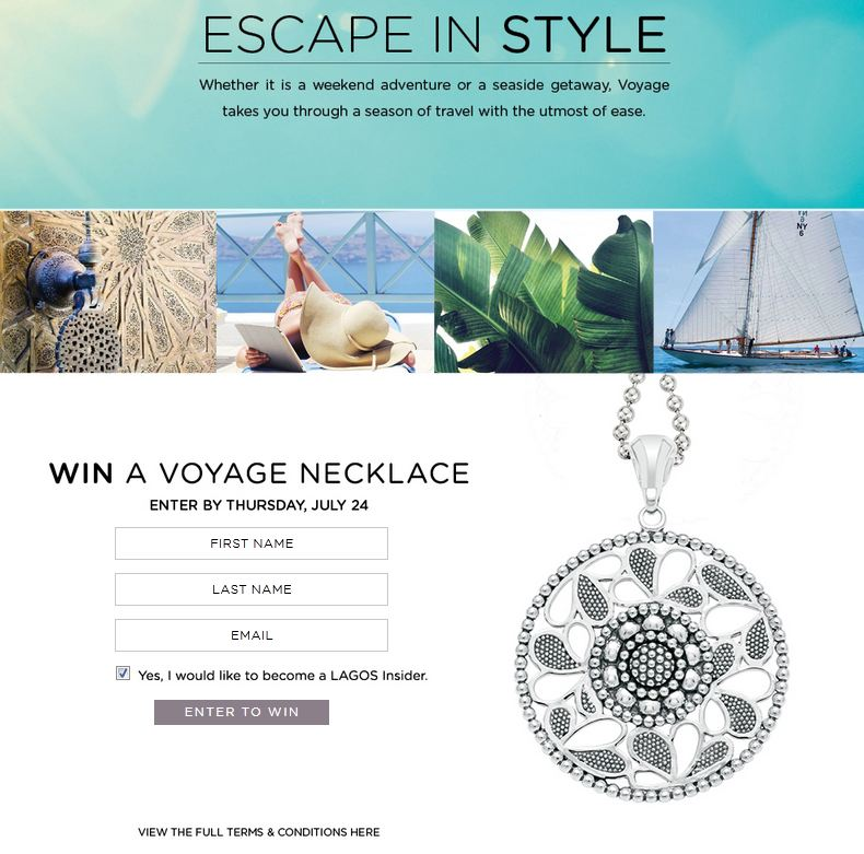 LAGOS Escape in Style summer contest entry
