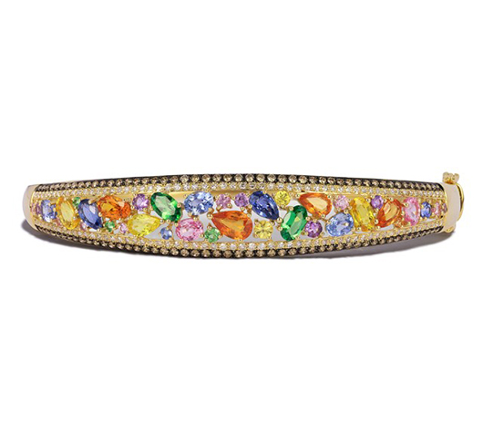 EFFY bracelet in 14k gold with multi-color sapphires and diamonds