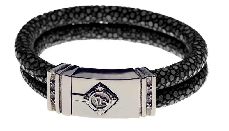 Noble by Bendtner bracelet in stingray, silver, and diamonds