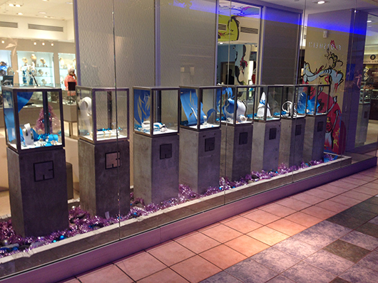 Reinhold Jewelers' holiday window display
