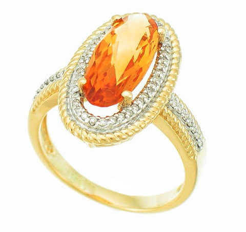 Supreme ring in 14k gold with citrine