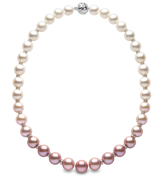 Yoko London ombre pearl necklace