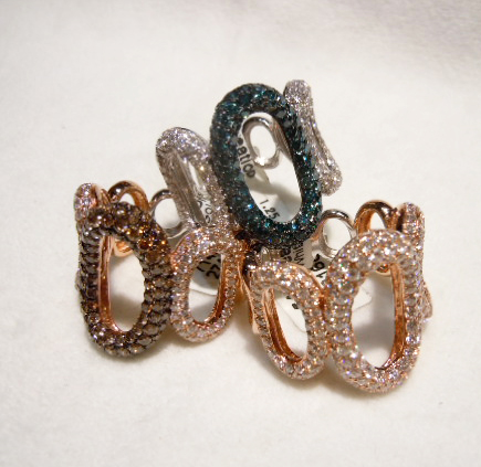 Gold and diamond rings from iZi Creations