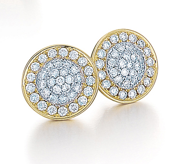 Frederic Sage diamond and gold earrings