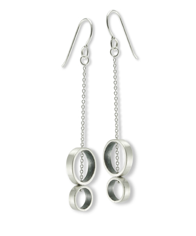 Alice Roche silver earrings