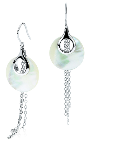 Misaki silver and mother of pearl earrings