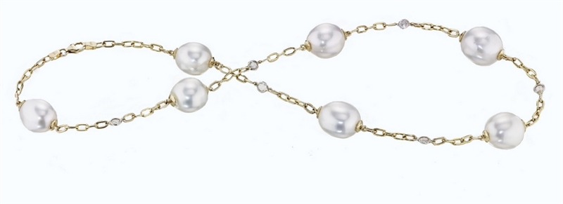 AandZ Pearls Tin Cup necklace