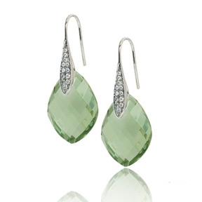 Elite Designs quartz drop earrings