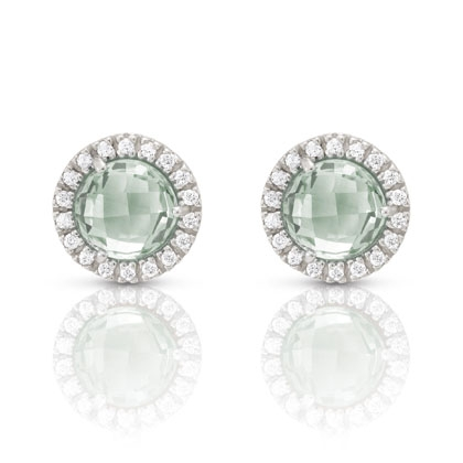 Nomination Italy Sofia sea green studs