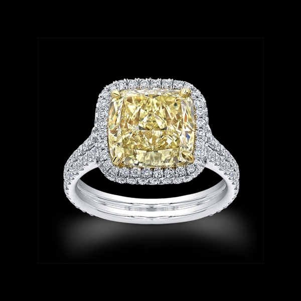 Norman Silverman yellow diamond ring