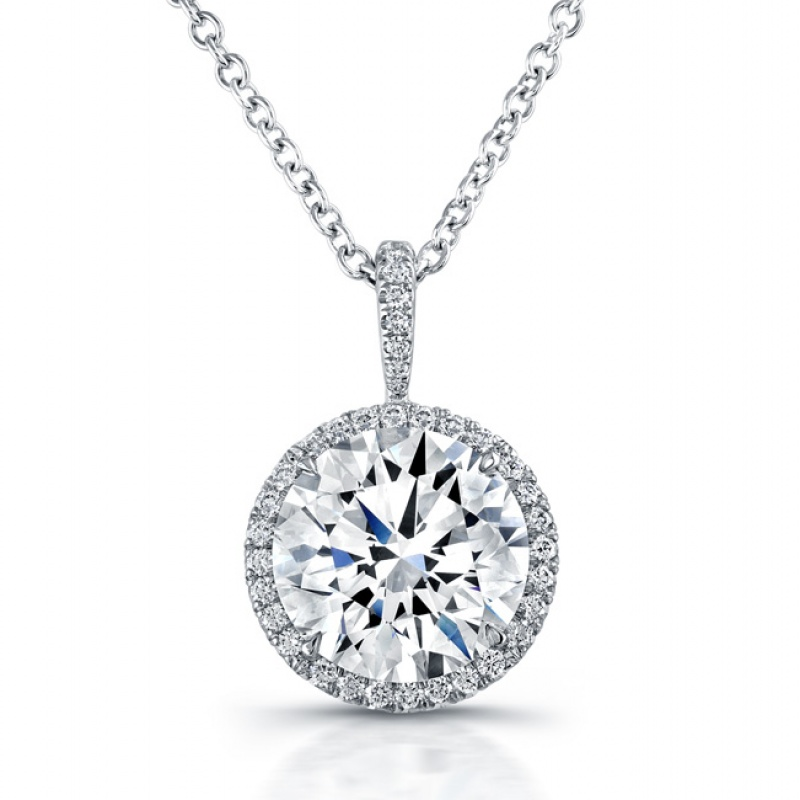 Rahaminov diamond halo pendant
