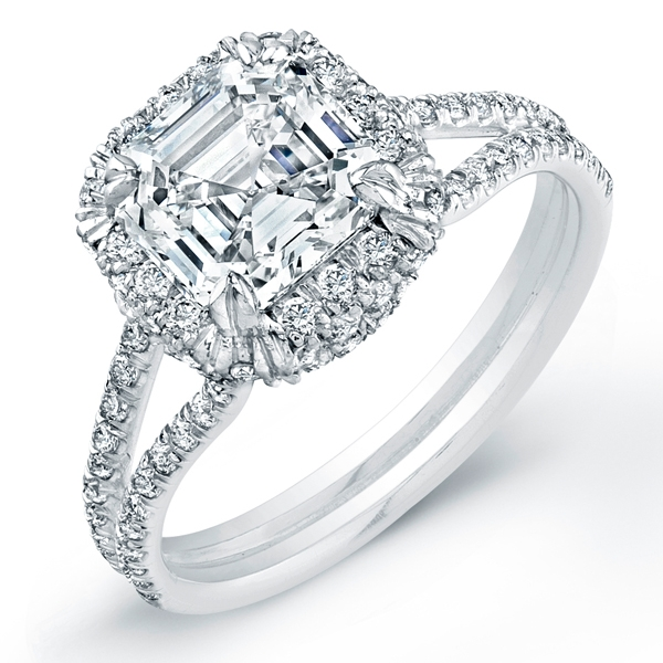 Norman Silverman asscher-cut diamond ring