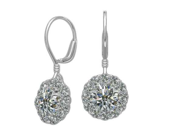 Harout R. platinum Cupcake earrings