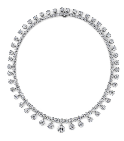 Lazare Kaplan diamond and platinum necklace