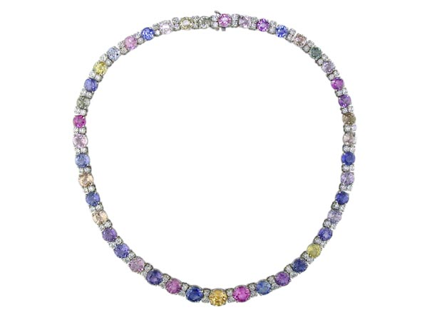 Oscar Heyman platinum and gemstone necklace