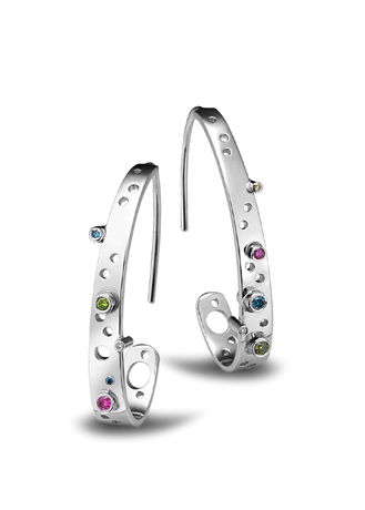 Erik Stewart platinum and diamond earrings