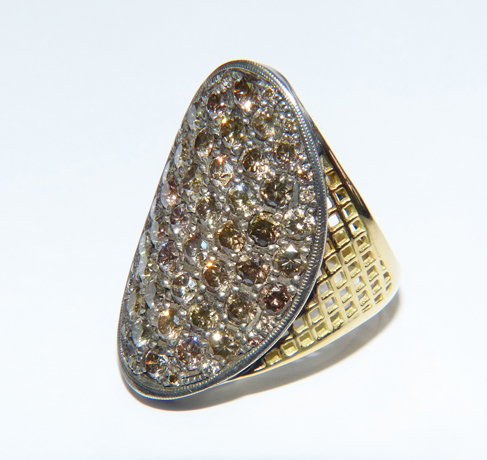 Ray Griffiths champagne diamond ring