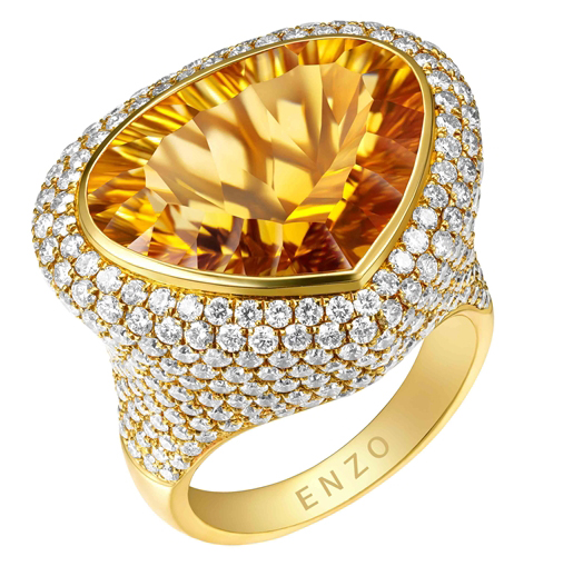 ENZO by Lorenzo citrine cocktail ring