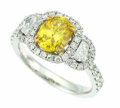 Radiant yellow ring in platinum and 18k gold from Supreme