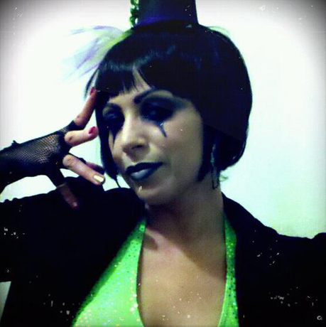 "Jen Gandia, co-owner of Greenwich Jewelers in New York City as a goth carnie dancer from a routine seen on ""So You Think You Can Dance?"""