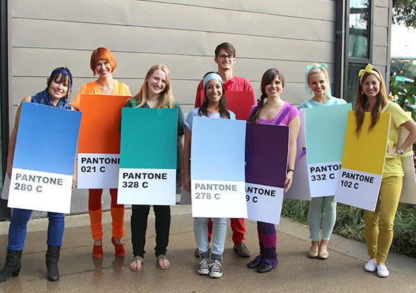 The Kendra Scott marketing and creative team in their own DIY PANTONE colors