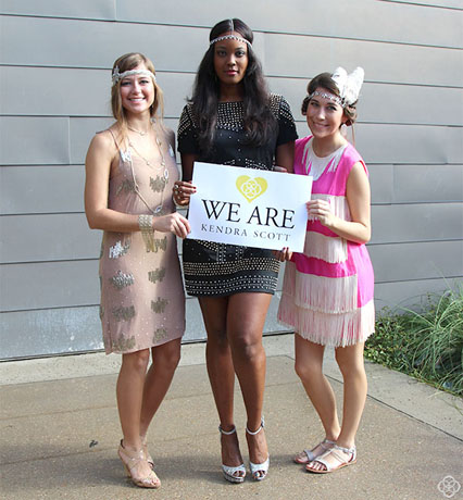 Sales associates from Kendra Scott's San Antonio, Texas, store as flappers