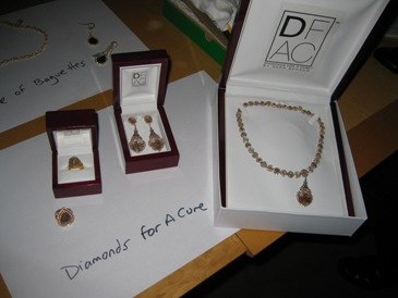 Jewelry from Diamonds For A Cure.
